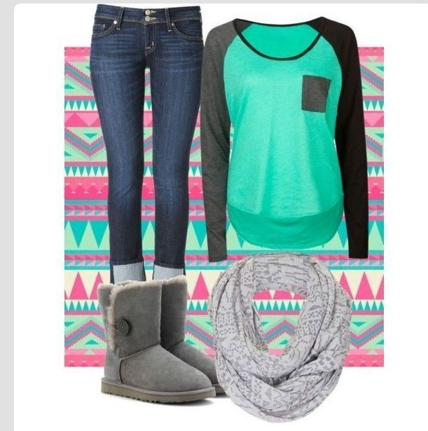 School outfit | Outfits | Pinterest | I am Cute casual outfits and Uggs