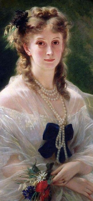 София Трубецкая (1838-96), графиня де Морни (фрагмент). Франц Ксавьер Винтерхальтер
