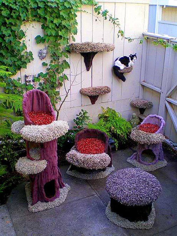 """Once I get the outdoor space right for the cats, there will be """"proper furniture"""" for them. Maybe even for the doggy :)"""