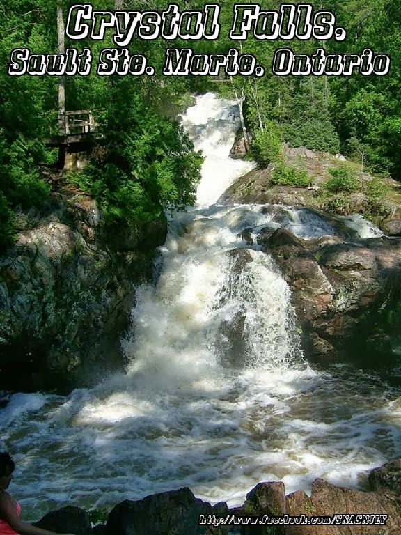 Beautiful waterfalls images,Crystal Falls, Sault Ste Marie, Ontario  #waterfalls