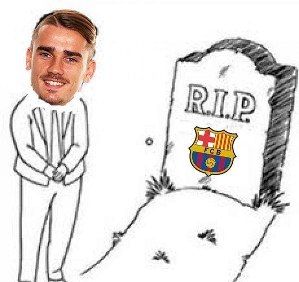 Odpoczywaj w spokoju czyli Antoine Griezmann pogrzebał FC Barcelonę • Francuz załatwił Atletico awans do półfinału Ligi Mistrzów >> #football #soccer #sports #pilkanozna