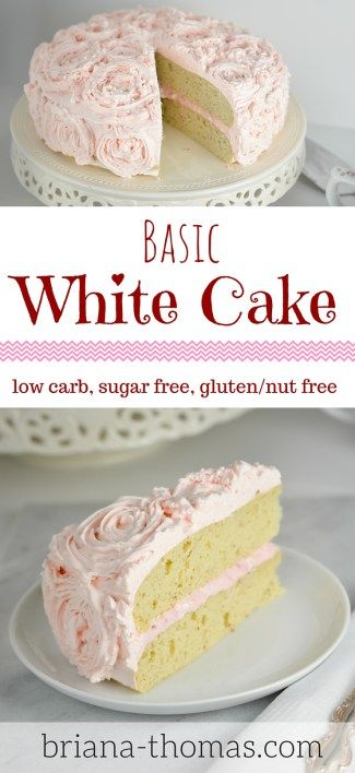 Basic White Cake...THM:S, low carb, sugar free, gluten/nut free