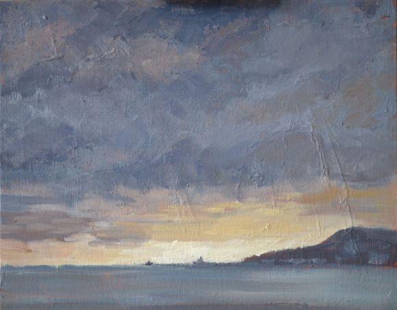 Sunrise over Portland Harbour