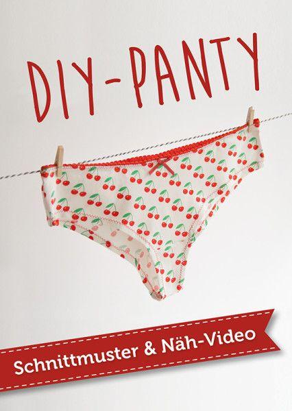 Kostenloses Schnittmuster & Video-Nähanleitung für Panties - eine tolle Verwertung für schöne Jersey-Stoffreste