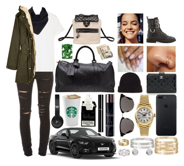 """""""weekender"""" by sabri-belieber ❤ liked on Polyvore featuring Yves Saint Laurent, R13, A.L.C., D&G, Chanel, Loro Piana, Cartier, Rolex, Giuseppe Zanotti and Dolce&Gabbana"""