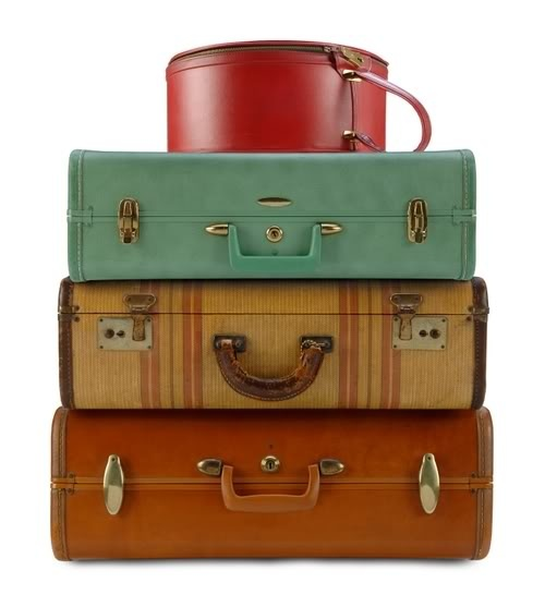 I have a corner of vintage suitcases in my house. Love them.