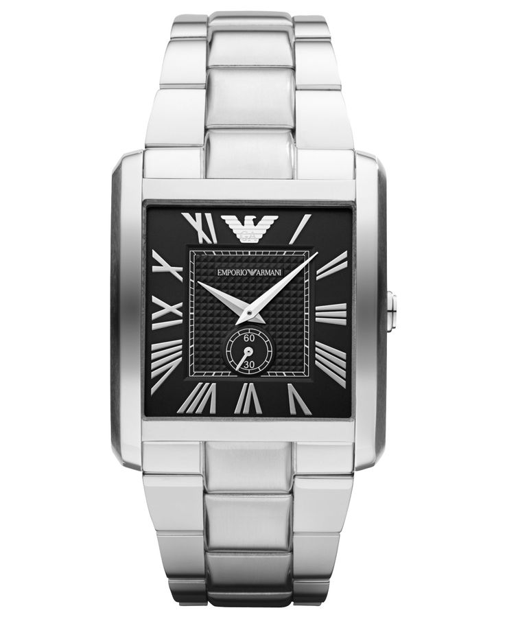 Emporio Armani Watch, Men's Stainless Steel Bracelet 37x35mm AR1642