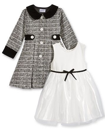 Blueberi Boulevard 2-Pc. Jacket & Dress Set, Toddler Girls (2T-5T) & Little Girls (2-6X) - Dresses - Kids & Baby - Macy's