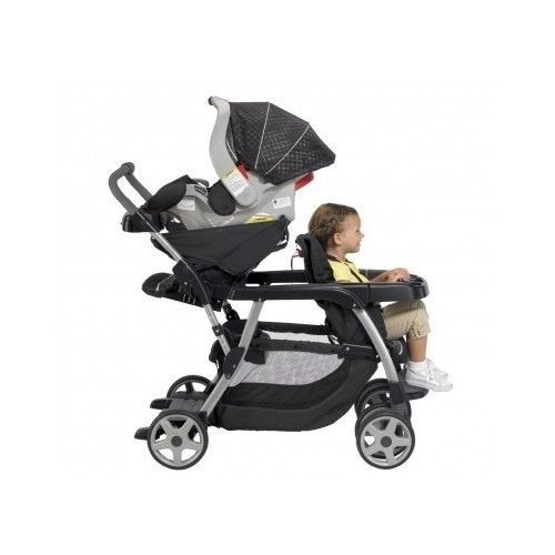 Sit Stand Stroller Graco Twins Double Car Seat Bench Ride Baby Toddler Infant