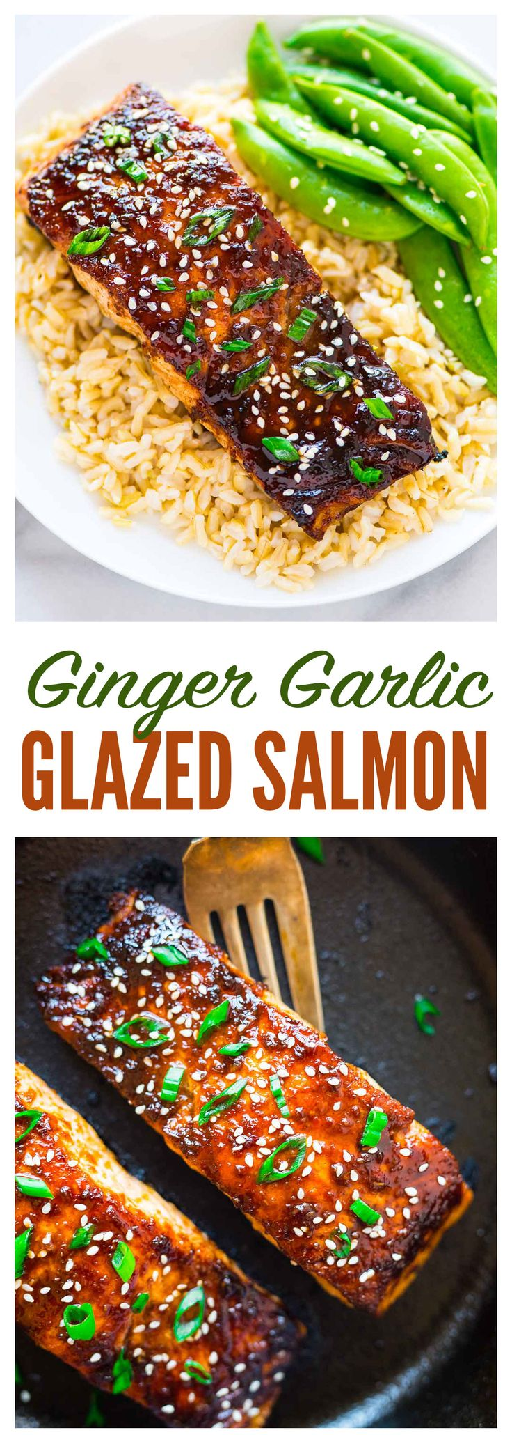 Baked Soy Ginger Salmon – the best, easiest recipe for PERFECT cooked salmon! Moist and flavorful, with a delicious honey soy ginger glaze. Fast enough for busy weeknight dinners, but special enough for company. Recipe at wellplated.com | @wellplated