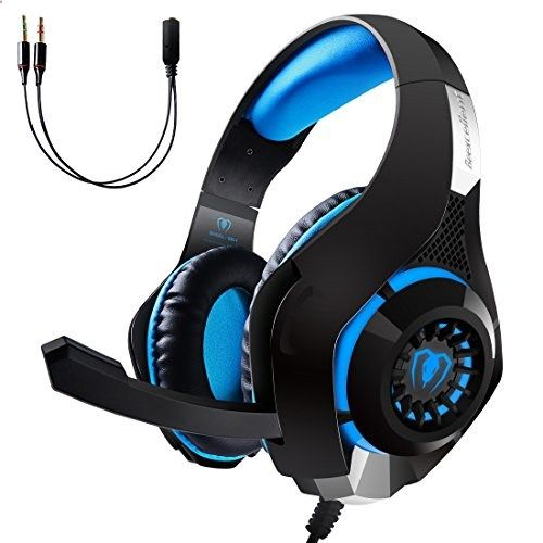 Smartphone Games - EOWJEED Gaming Headset LED Light Headset for PS4 PSP Xbox one Tablet iPhone Ipad Samsung Smartphone Gaming Handset with Adapter Cable for PC Blue >>> Want additional info? Click on the image.