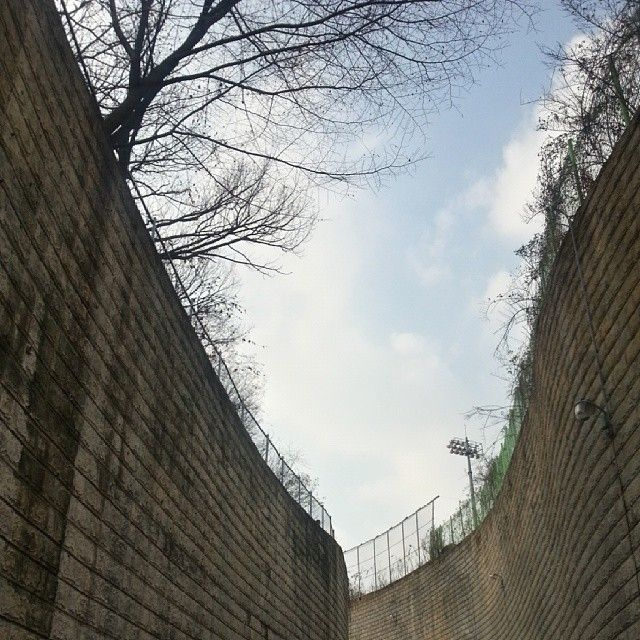 .@mindooze | 학교 뒷골목 #skku #backalley #sky #wall | 2013 12 04 /