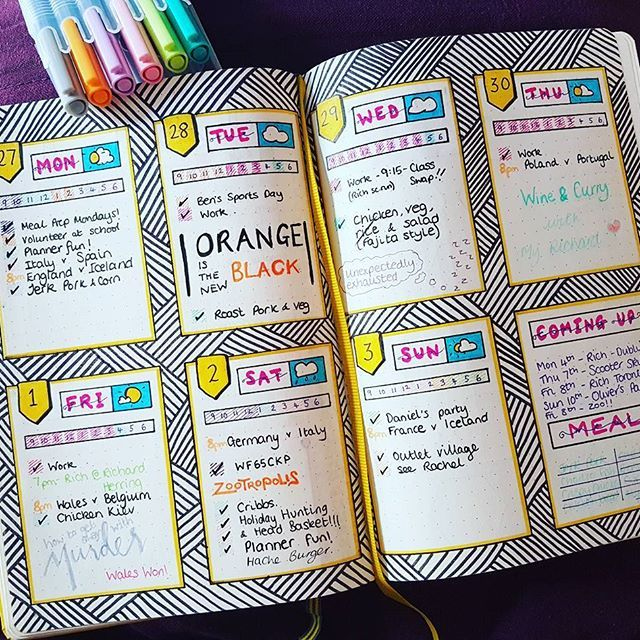 Another week complete! Where did June go?! #bujo #bulletjournal #planner…