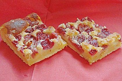 Kirsch - Schmand - Kuchen (Rezept mit Bild) von Cha-Cha | Chefkoch.de - superlecker!!! Bisher nur frischen Kirschen gemacht... Bei mir reichen 35-40 Min bei 175 Grad Umluft