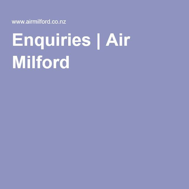 Enquiries | Air Milford