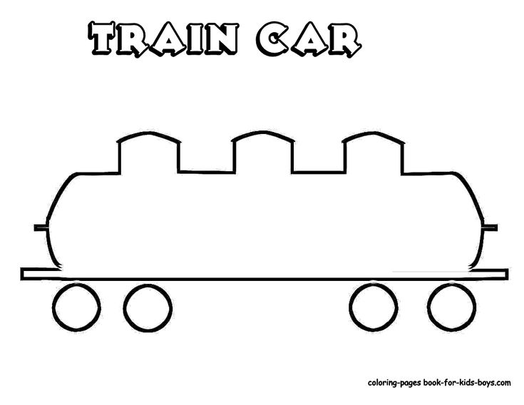 Train template for Train cars coloring pages