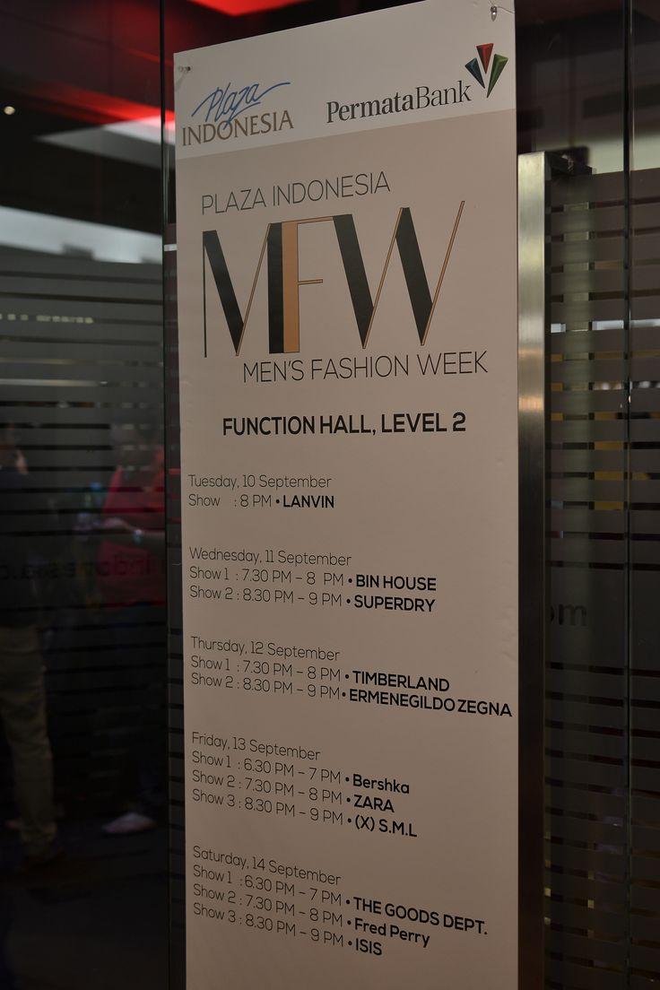 Men's Fashion Week 2013 - Plaza Indonesia schedule
