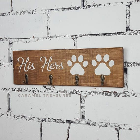 Check out this item in my Etsy shop https://www.etsy.com/listing/546409512/his-hers-dog-his-hers-key-rack-his-hers