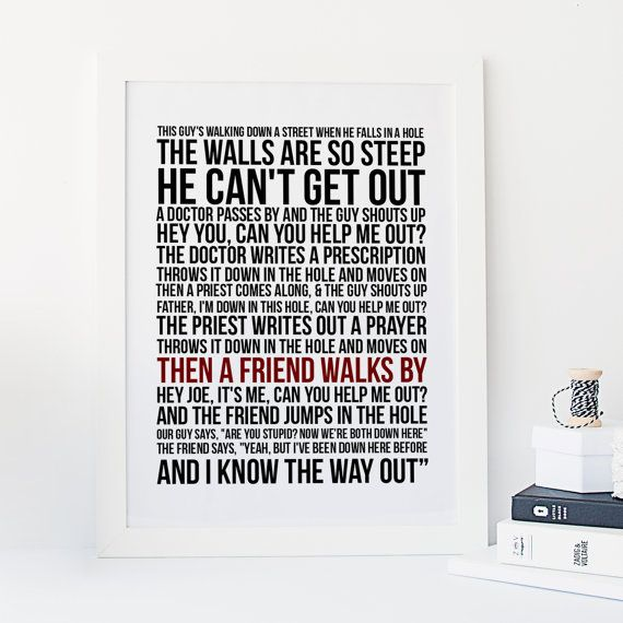 Then a Friend Walks By - West Wing -  Quote - Typography - Jed Bartlet