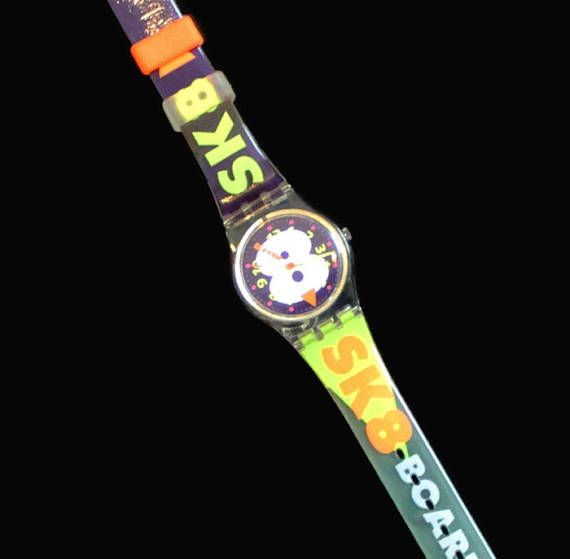 1990's Swatch Watch Snow Collage