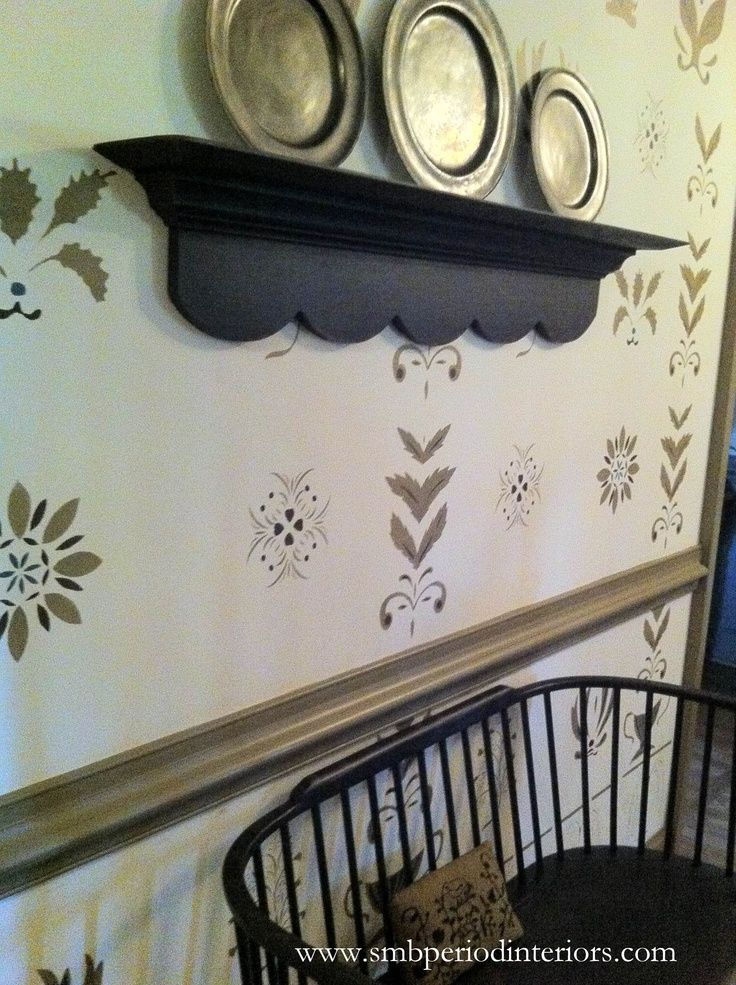 1000 Images About Colonial Stenciled Room On Pinterest