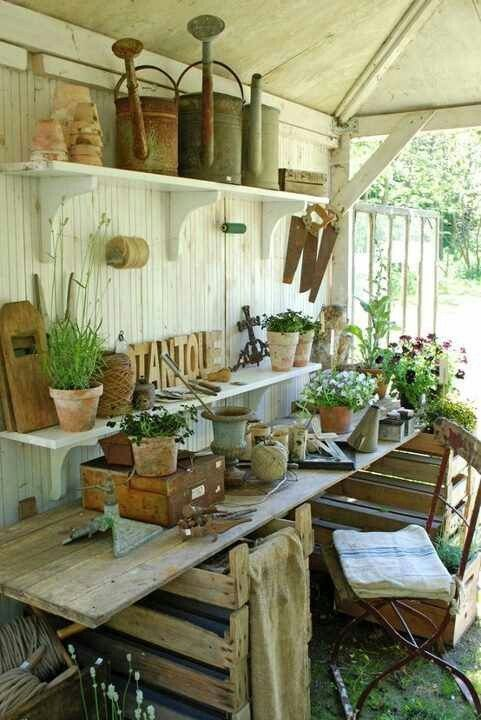 BABY, THIS IS FUN, PICKING THINGS WE LIKE TOGETHER. A POTTING SHED  IS A MUST-HAVE, 2  SPRING PROJECTS SHED AND  POND. XXX OOO