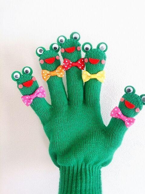 カエルとカタツムリの手袋シアター♪ の画像 amicoの手袋シアター♪