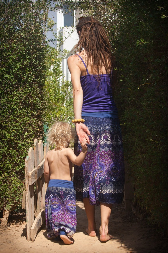 mum & child matching harem pants. How Sweet is that?! #bohemian #untamedgypsy #gypsy