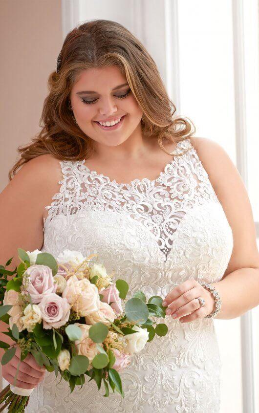 233675b23b7 6600+ Plus Size Mermaid Wedding Dress by Stella York