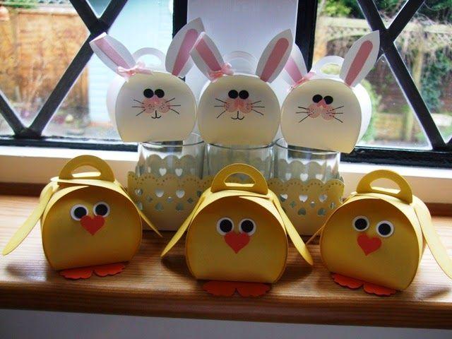 Copper Beech Crafts: WOYWW 298. Curvy Keepsake Bunnies & Chicks Easter punch Art