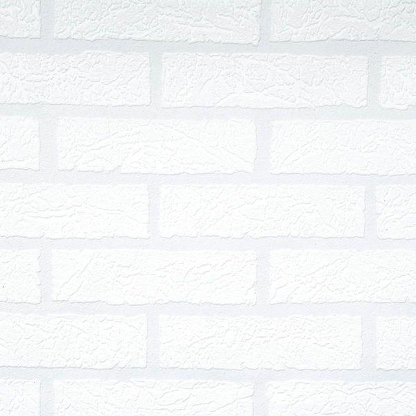 Tapet Robust Tegel 10 m x 53 cm Vit Vinyl - Tapeter - Rusta
