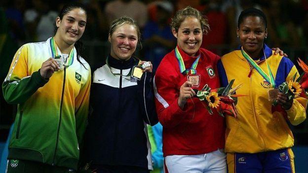 Mayra e Rhonda duelaram na final do Pan de 2007, no Rio. A americana levou a…