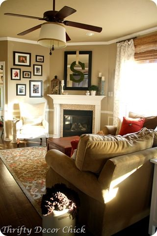 red blue neutral family room