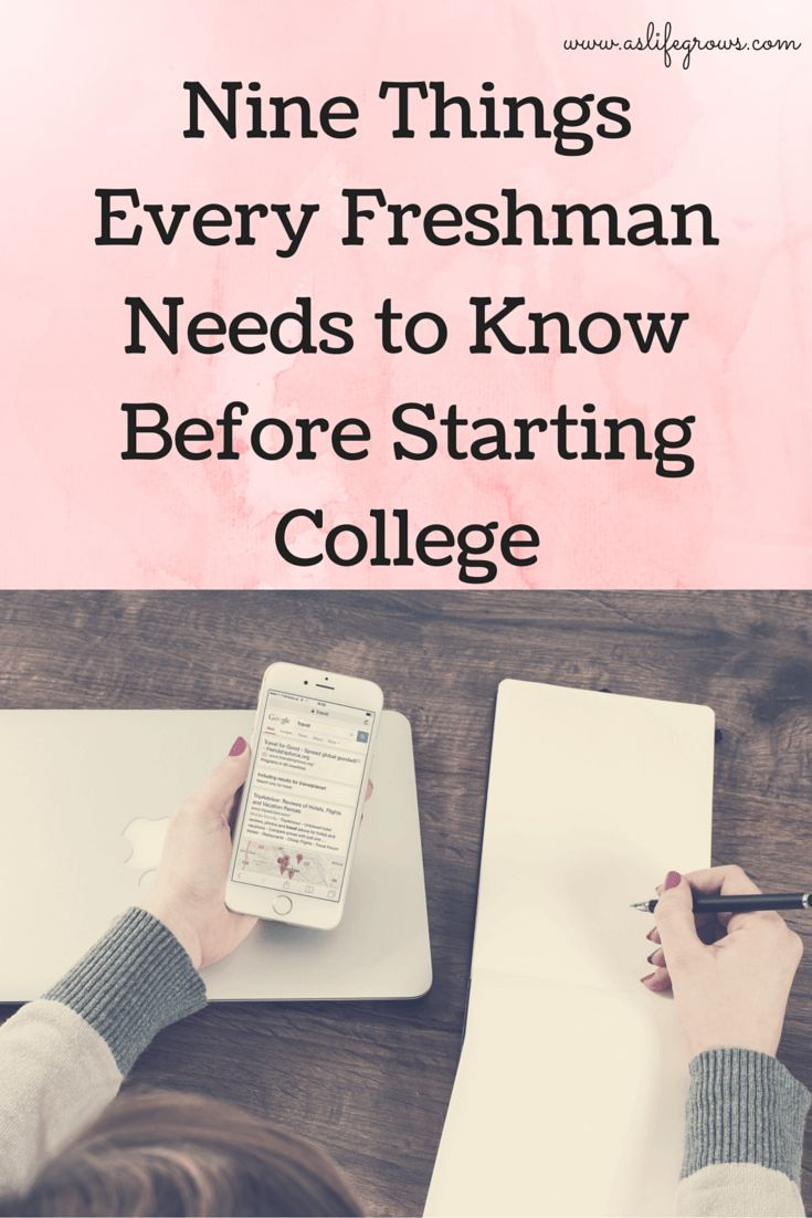 Ready to get prepared for freshman year of college? Take a look at these nine things you need to know about!