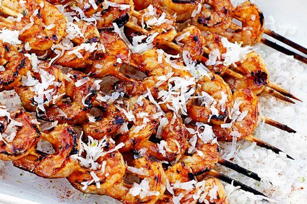 Thai Chili Coconut Shrimp Skewers
