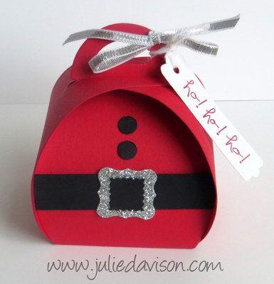 Stampin' Up! Santa Curvy Keepsakes Box + GIVEAWAY #christmas #stampinup www.juliedavison.com