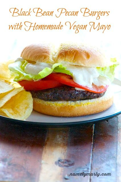 Black Bean Pecan Burgers with Homemade Mayo. Farm Sanctuary is committed to ending cruelty to farm animals and promoting compassionate vegan living through rescue, education, and advocacy efforts. Please join us. A compassionate world begins with you! http://www.farmsanctuary.org
