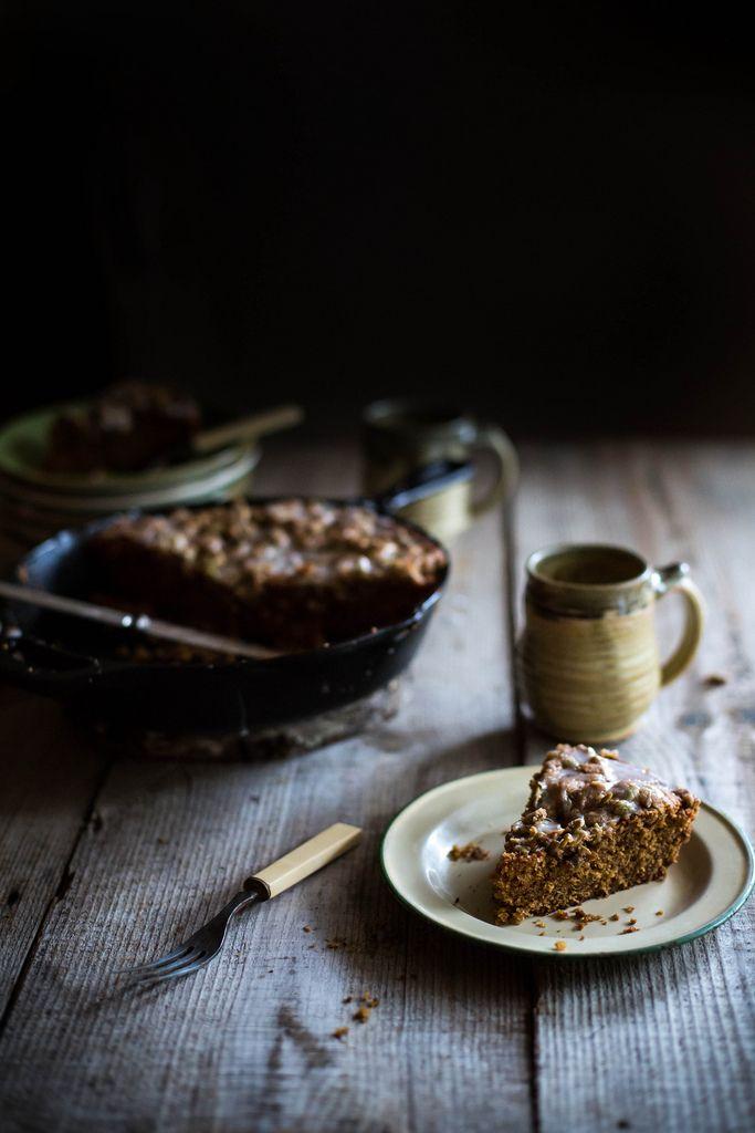 Local Milk | crème fraîche, cornmeal, & pumpkin coffee cake + pepita streusel:
