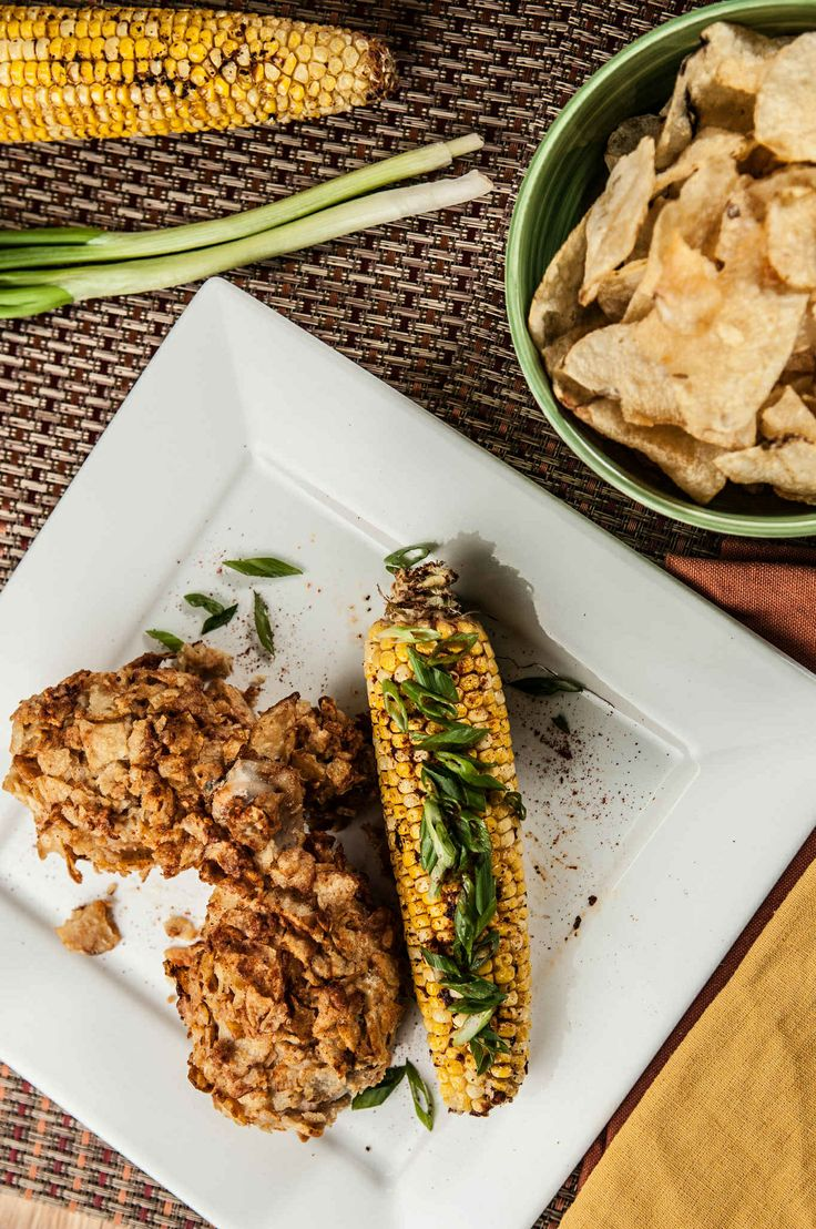 Oven Fried Chicken With Chipotle Roasted Corn https://www.homechef.com ...