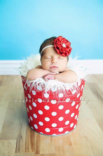 Adorable baby girl polka dot