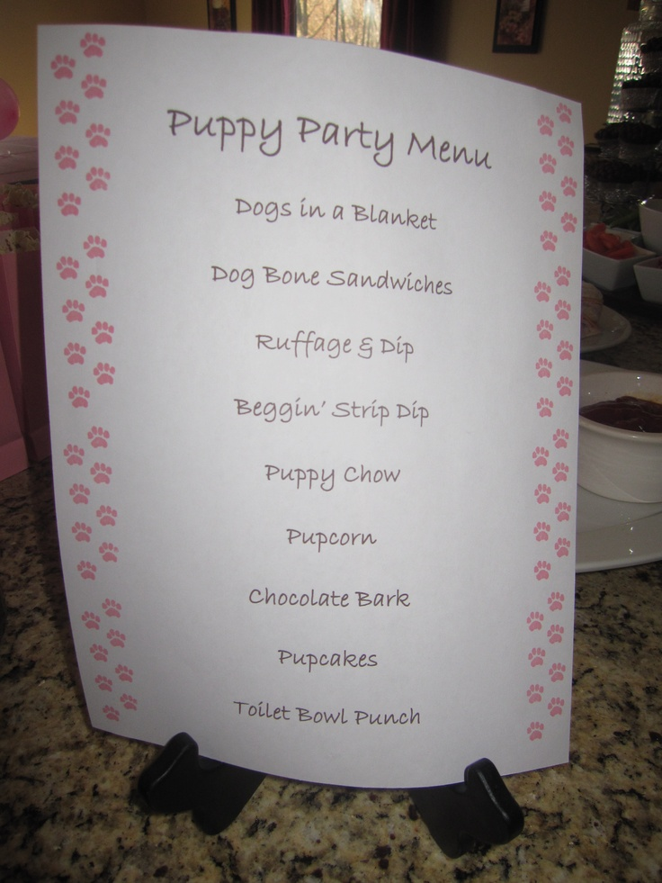 1000 Ideas About Kids Party Menu On Pinterest Kids
