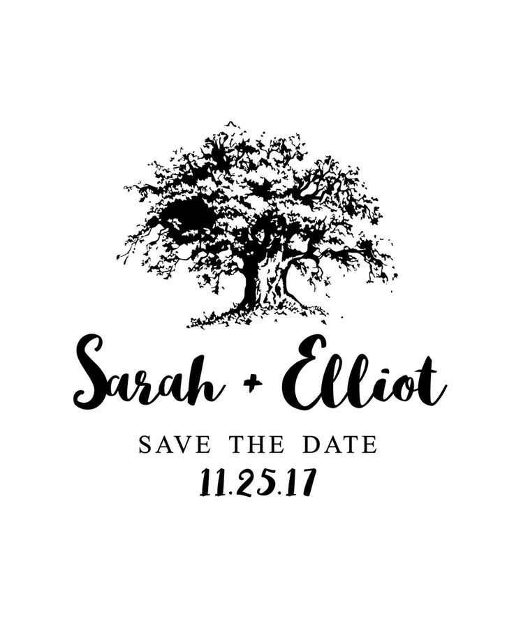 Shady Tree Save the Date by theRUBBERpress on Etsy https://www.etsy.com/ca/listing/66889068/shady-tree-save-the-date