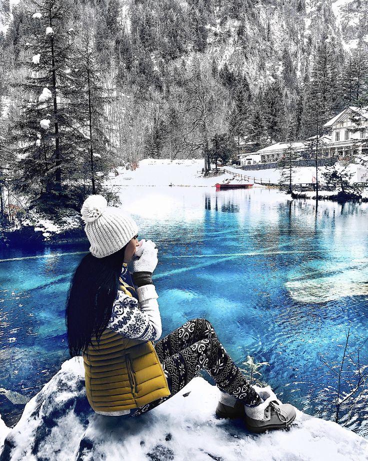 Lake Blausee. Switzerland