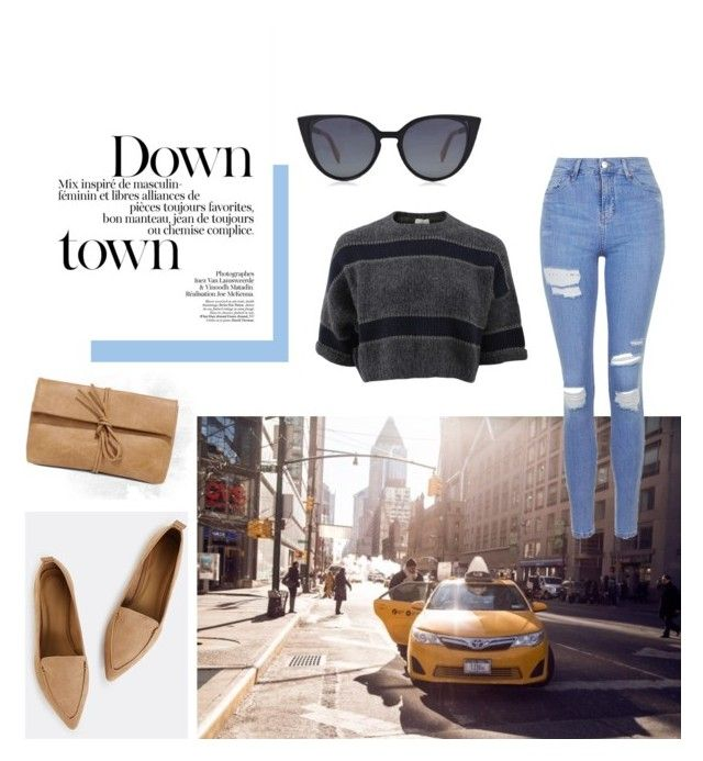 """""""Untitled #8"""" by salapopo on Polyvore featuring Brunello Cucinelli, Topshop, LULUS and Fendi"""