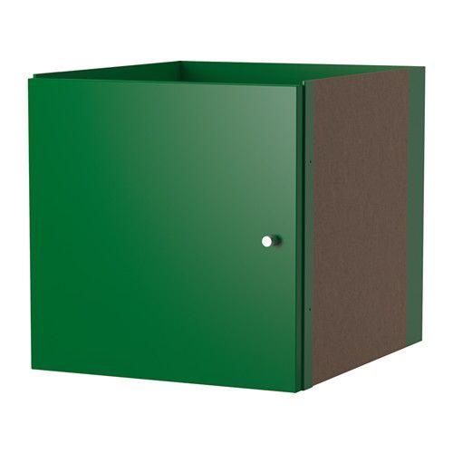 "KALLAX Insert with door - green - 13"" x 13""  $15 IKEA"