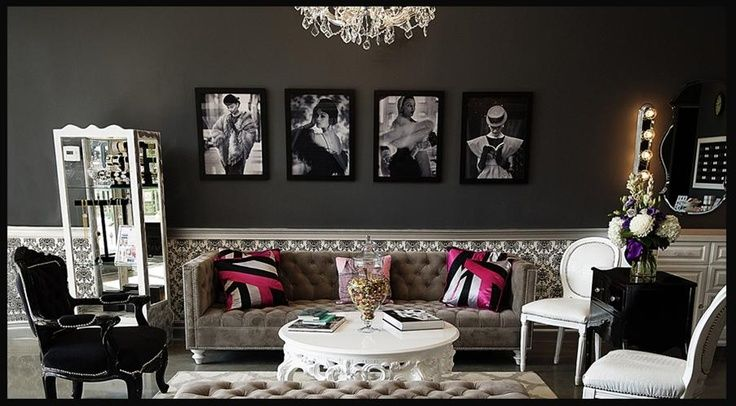 old hollywood glam decorating ideas | Old Hollywood Glamour Home Decor Ideas  Pictures on the wall really bring the room together!