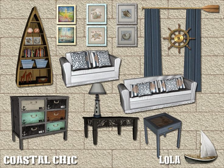 Sims And Just Stuff: Coastal Chic