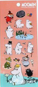 Moomin Characters Clear Seal Sticker | Salmon Pink: http://www.stationeryheaven.nl/Moomin