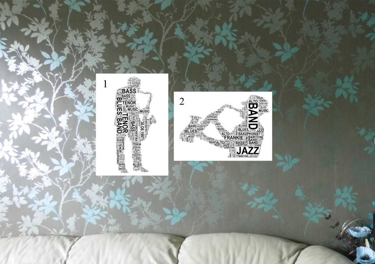 Saxophone Player Personalised Word Art Print. FREE UK P&P. Music lover gift, Birthday, Special Occasion. - pinned by pin4etsy.com
