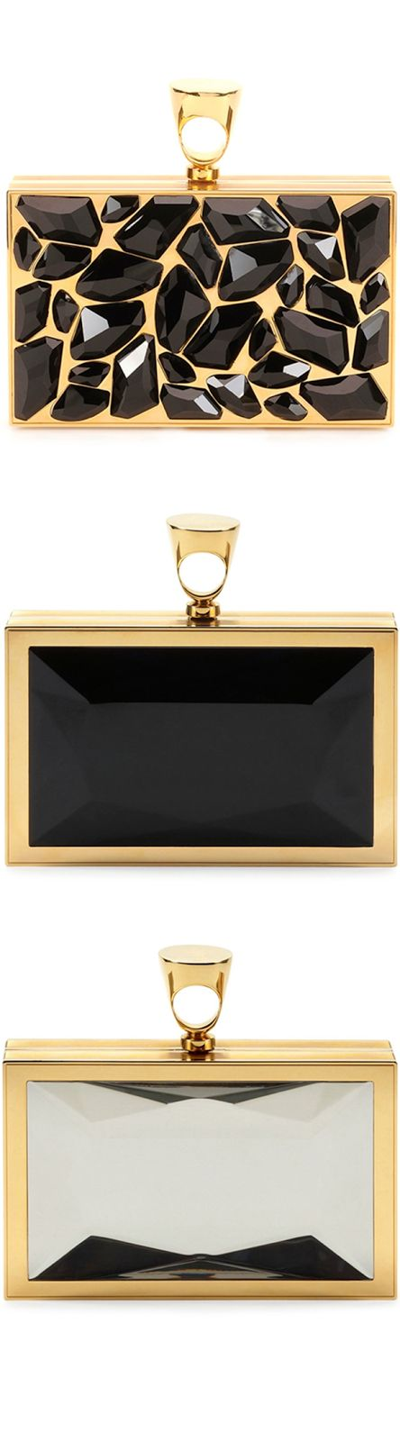 Tom Ford Crystal Brass Ring Clutch Bag
